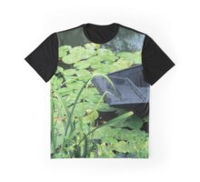 Bow of punt and water lilies, Marais Poitevin, France Graphic T-Shirt