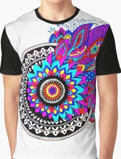 Mandala Colour Explosion Graphic T-Shirt