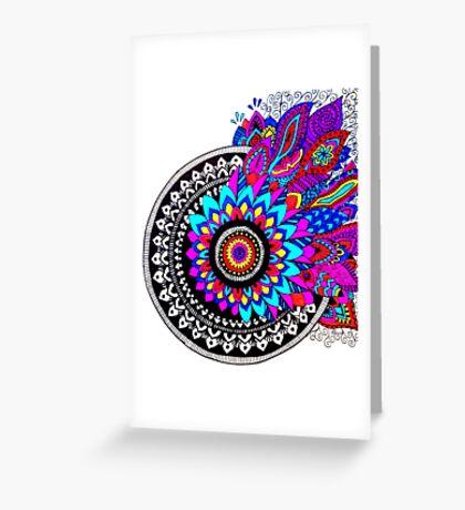 Mandala Colour Explosion Greeting Card