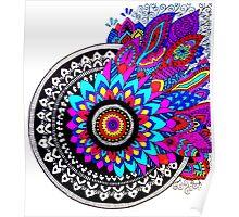 Mandala Colour Explosion Poster