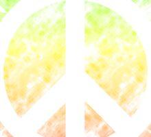 Tie Dye Peace Sign Rasta Sticker