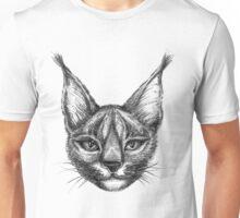 Caracal cat bw Unisex T-Shirt