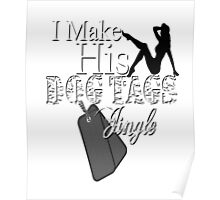 Make His Dog Tags Jingle Sexy Soldier Military Wives Camouflage Pin Up Girl Girlfriend  Poster