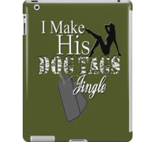 Make His Dog Tags Jingle Sexy Soldier Military Wives Camouflage Pin Up Girl Girlfriend  iPad Case/Skin