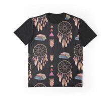 Dream-catchers and books - black Graphic T-Shirt