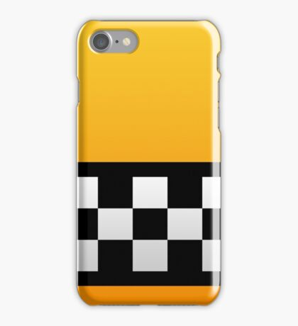 Taxi squares and stripes  iPhone Case/Skin