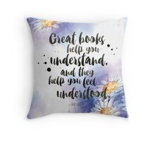 Great Books Throw Pillow