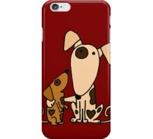 Cool Cute Mother and Baby Puppy Dog Love iPhone Case/Skin