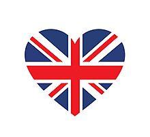 British Flag Heart Photographic Print