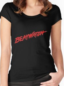 BEAWATCH Women's Fitted Scoop T-Shirt