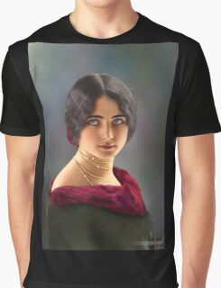 Colorized Vintage Portrait of Cleo De Merode 1903 Graphic T-Shirt