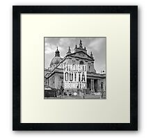 Straight Outta Brompton! Framed Print