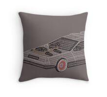 DeLorean Typography Throw Pillow