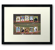 Greatest Baseball Movies with Field of Dreams Quote Framed Print