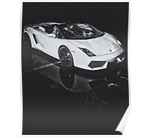 Lamborghini Gallardo Black and white Poster