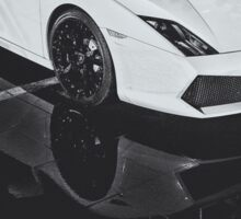 Lamborghini Gallardo Black and white Sticker