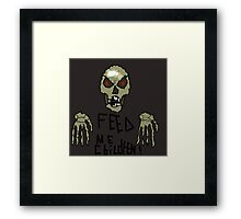 skeletron is hungry! Framed Print