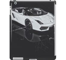 Lamborghini Gallardo Black and white iPad Case/Skin