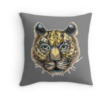 Panthera pardus, Linnaeus. big cat Throw Pillow