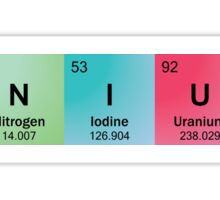 Genius Spelled with Element Symbols Sticker