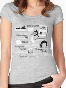 """""""Haven""""ly Quotes Women's Fitted Scoop T-Shirt"""