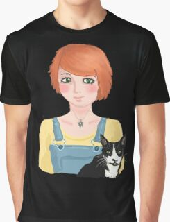 The girl and her cat Graphic T-Shirt