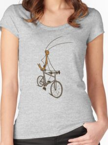 Stick Bug Cyclist Women's Fitted Scoop T-Shirt