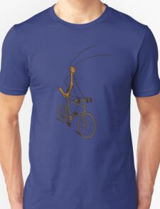 Stick Bug Cyclist Unisex T-Shirt