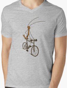 Stick Bug Cyclist Mens V-Neck T-Shirt