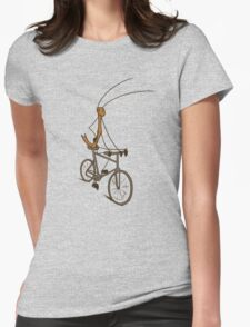 Stick Bug Cyclist Womens Fitted T-Shirt