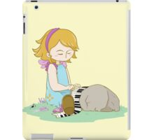 Cute girl playing piano iPad Case/Skin