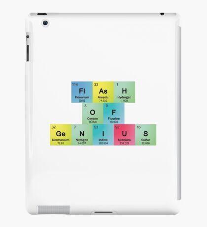 Flash of Genius Spelled with Periodic Table Symbols iPad Case/Skin