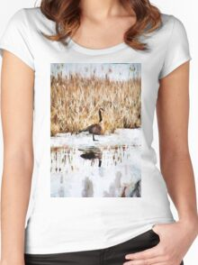 The Lone Traveler Women's Fitted Scoop T-Shirt