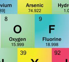 Flash of Genyus with Periodic Table Symbols Sticker