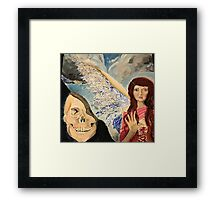 In death we dream of angels Framed Print