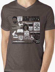 Lost Quotes Mens V-Neck T-Shirt