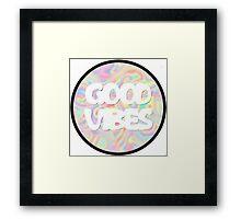 "Unisex ""Good Vibes"" Tie-Dye Shirt Framed Print"