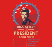 Rick Astley for President One Piece - Short Sleeve