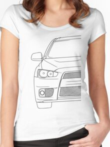 Evo 10 outline - black Women's Fitted Scoop T-Shirt