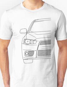 Evo 10 outline - black Unisex T-Shirt