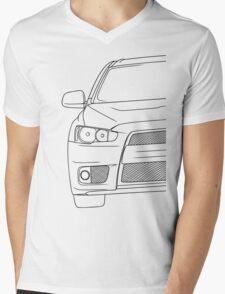 Evo 10 outline - black Mens V-Neck T-Shirt