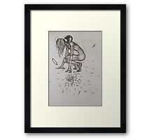 Weight of the world, it makes Angels fall  Framed Print
