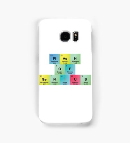 Flash of Genius Spelled with Periodic Table Symbols Samsung Galaxy Case/Skin