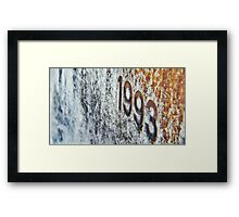 The Truth Of 1993 - Who Pulled The Strings Framed Print