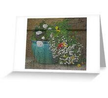 Yachats Oregon - Container Gardening Greeting Card