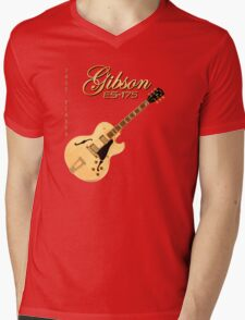 Gibson ES 175 Jazz Player Mens V-Neck T-Shirt