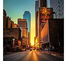 Elm Street Sunset, Dallas Photographic Print