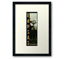 Ask Kansas Framed Print