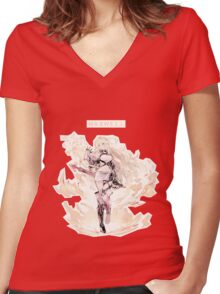 Milla Maxwell Women's Fitted V-Neck T-Shirt