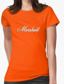 Marshall White Womens Fitted T-Shirt